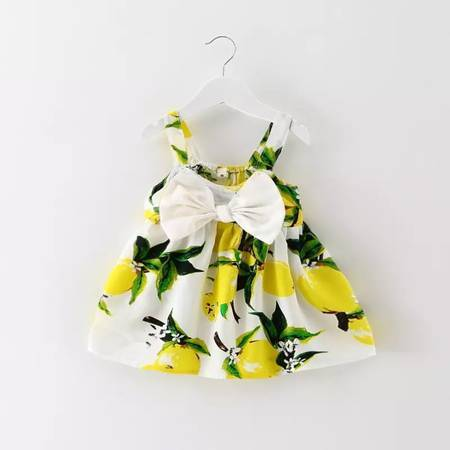 FUN YELLOW BOW DRESS - Spinel Boutique