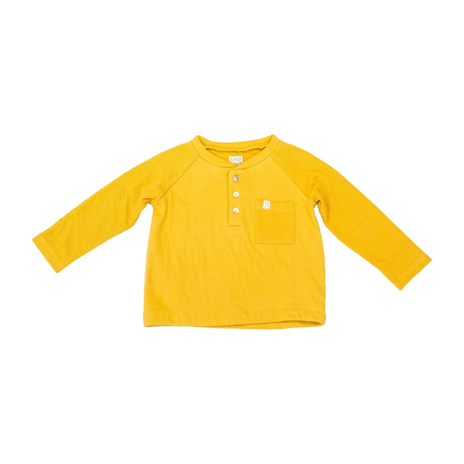 HENLEY SHIRT, MUSTARD | SPINEL BOUTIQUE - Spinel Boutique
