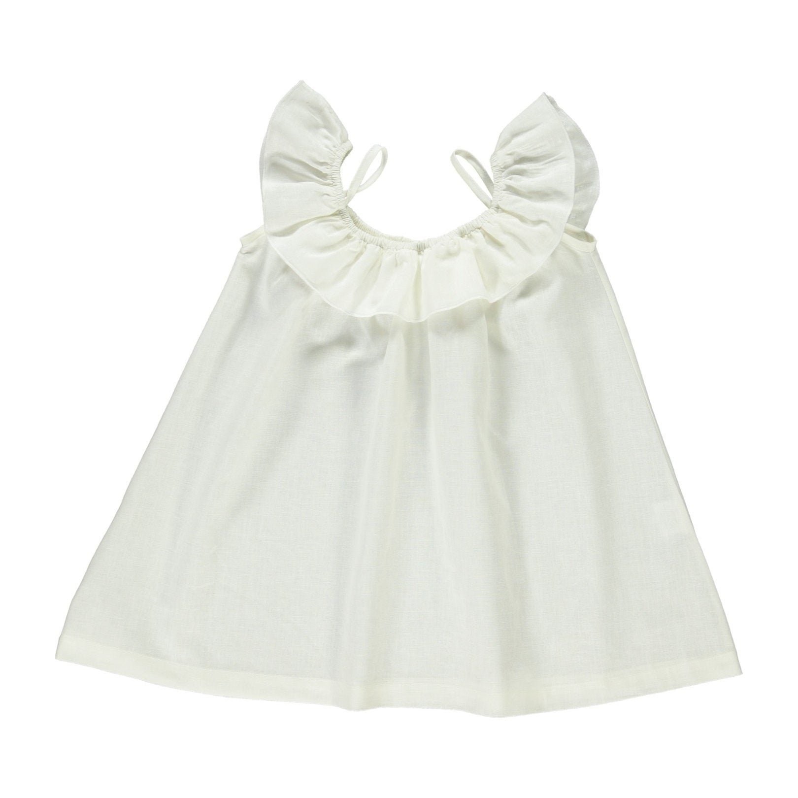 ORGANIC COTTON  BIRGITA DRESS, WHITE  | BEBE ORGANIC - Spinel Boutique