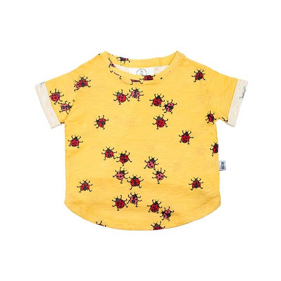 LADYBUGS MIMOSA BOXY TEE, YELLOW | SPINEL BOUTIQUE - Spinel Boutique