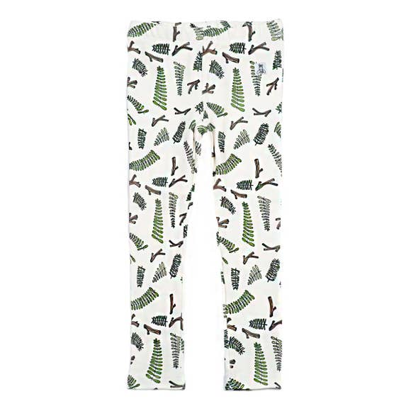 FERN TWIG MARSHMALLOW LEGGINGS, WHITE | SPINEL BOUTIQUE - Spinel Boutique