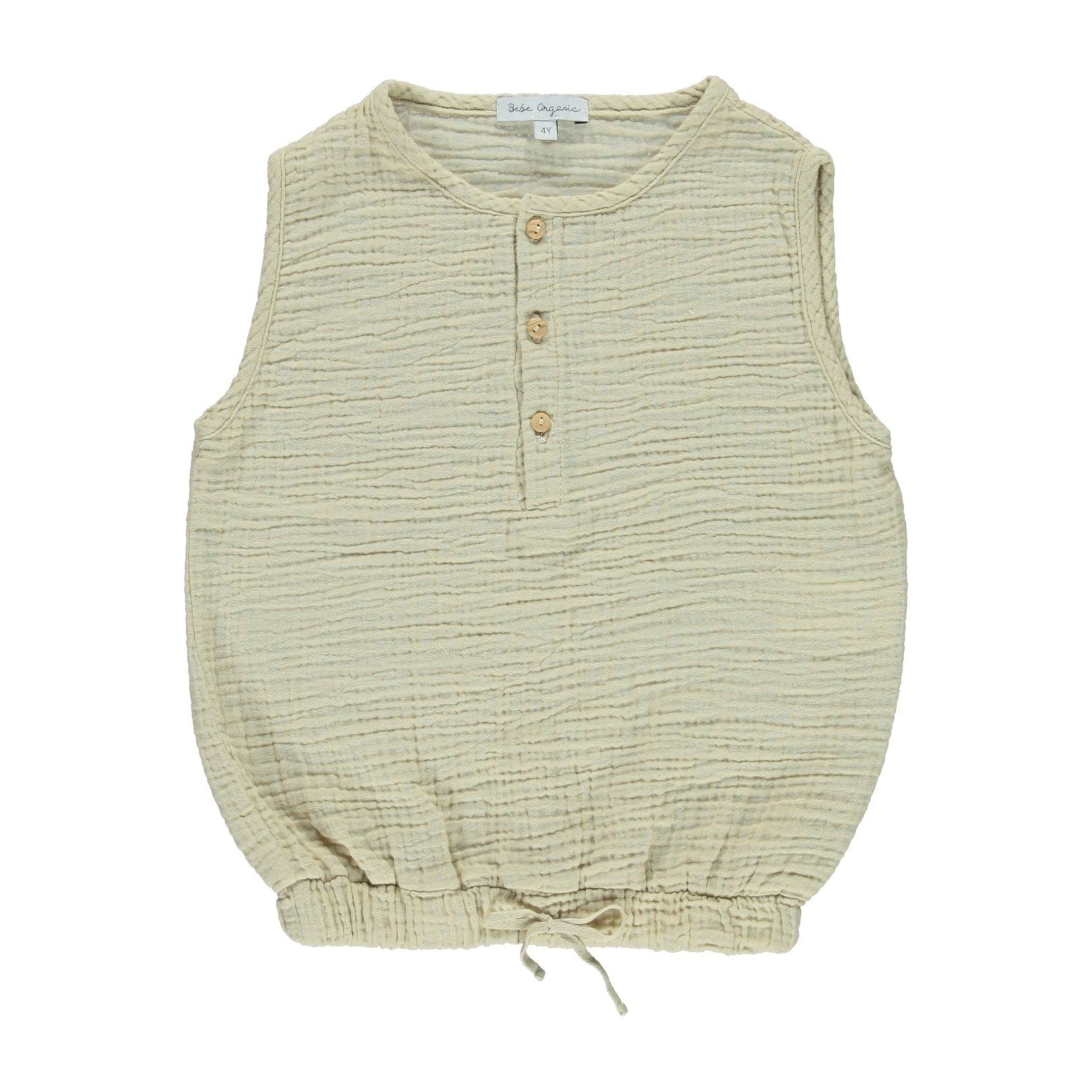 BEBE ORGANIC 'OTTO' TANK , TAUPE - Spinel Boutique