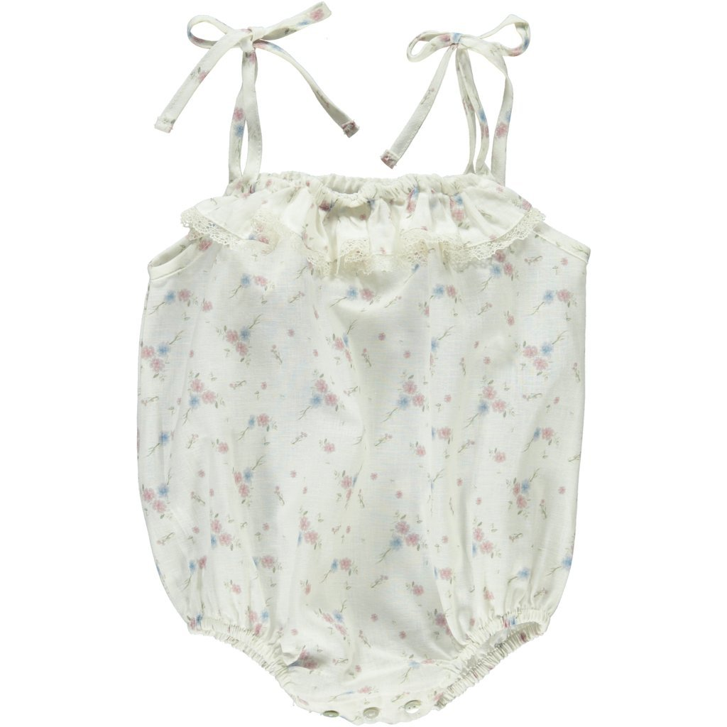 ORGANIC COTTON 'AMINA' BABY ROMPER, FLORAL | BEBE ORGANIC - Spinel Boutique