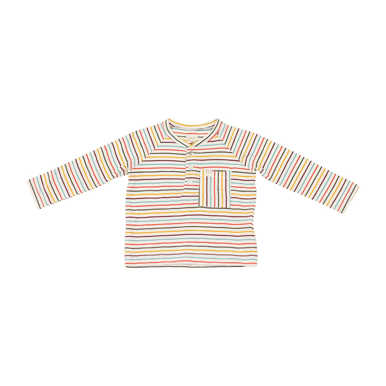HENLEY SHIRT, RAINBOW STRIPES | SPINEL BOUTIQUE - Spinel Boutique