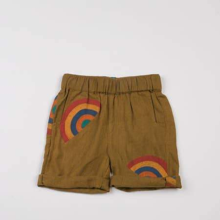RAINBOW ROLLED HEM SHORTS - MUSTARD - Spinel Boutique