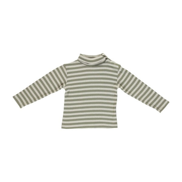 BEBE ORGANIC - VINTAGE TURTLENECK, GREEN STRIPE - Spinel Boutique