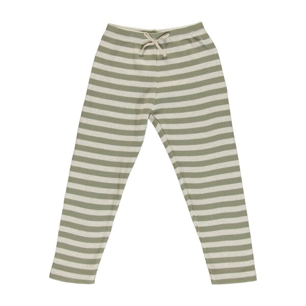BEBE ORGANIC - VINTAGE LEGGING, GREEN STRIPE - Spinel Boutique