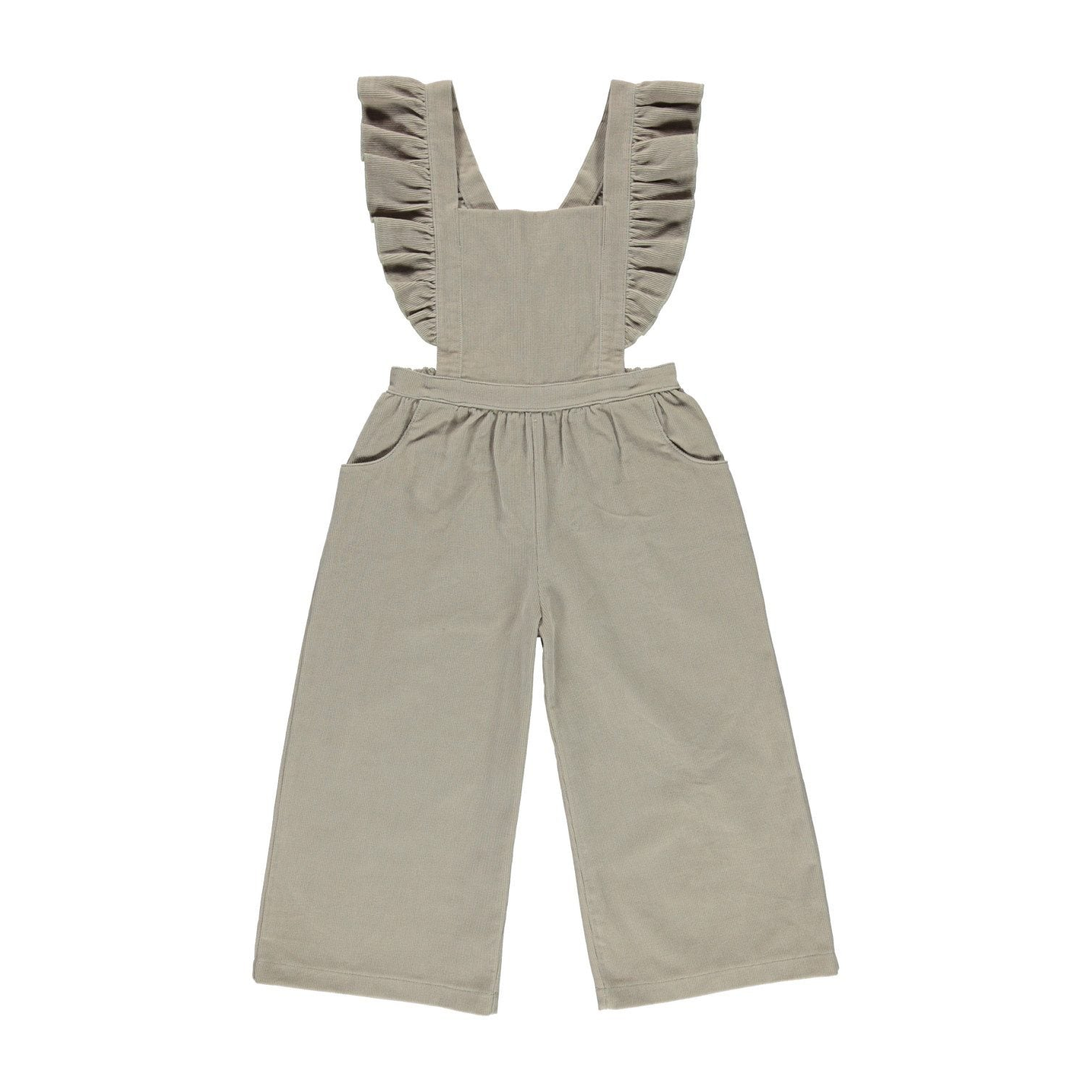 ORGANIC HARPER ROMPER, SIMPLE TAUPE | BEBE ORGANIC - Spinel Boutique