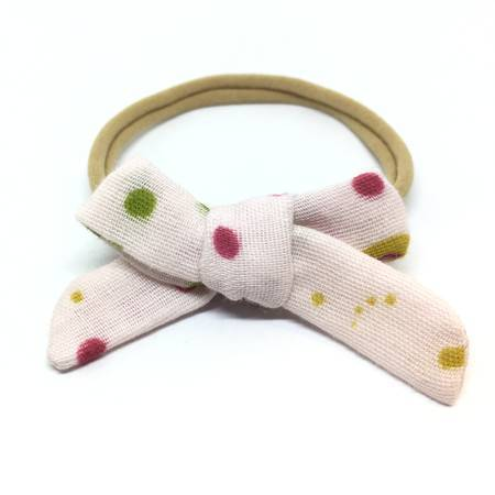 FLORAL SPLATTER GAUZE DAINTY HAIR BOW - Spinel Boutique