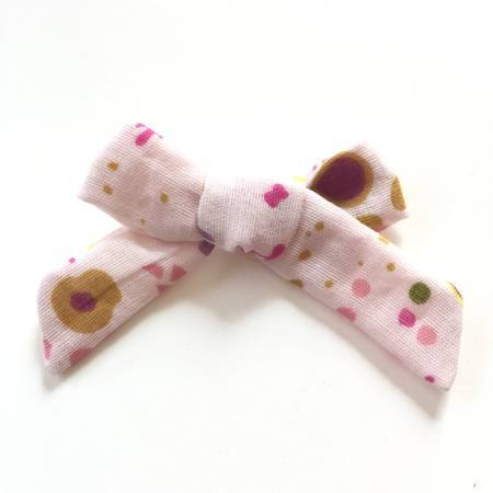 FLORAL SPLATTER GAUZE CLASIC HAIR BOW - Spinel Boutique