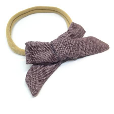 LINEN DAINTY HAIR BOW - Spinel Boutique