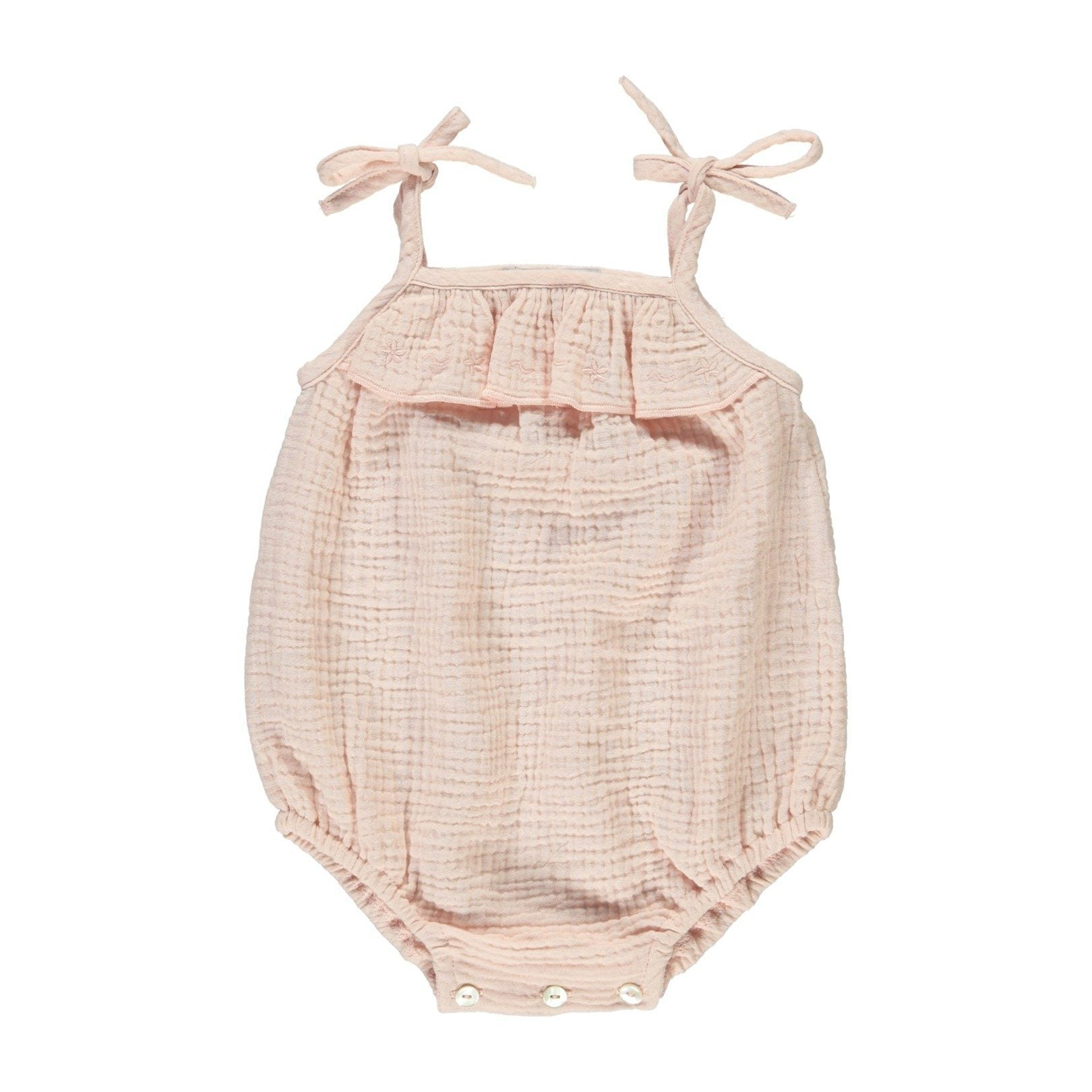 ORGANIC COTTON 'AMINA' BABY ROMPER, OLD PINK  | BEBE ORGANIC - Spinel Boutique