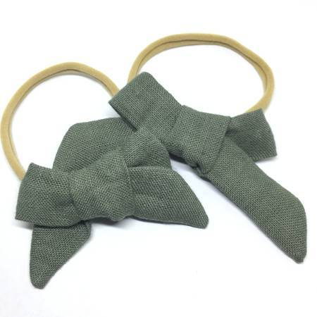 LINEN CHUNKY HAIR BOW - Spinel Boutique