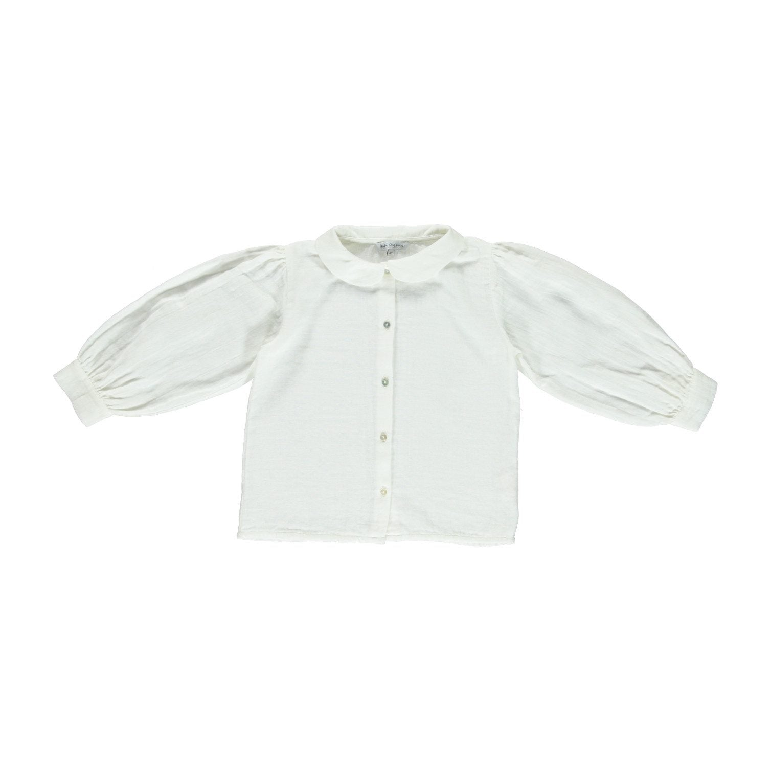 ORGANIC LESLIE BLOUSE, NATURAL WHITE | BEBE ORGANIC - Spinel Boutique