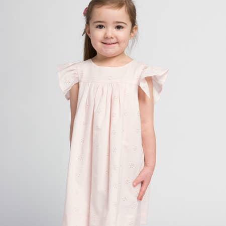 HANNAH DRESS IN BLUSH - Spinel Boutique