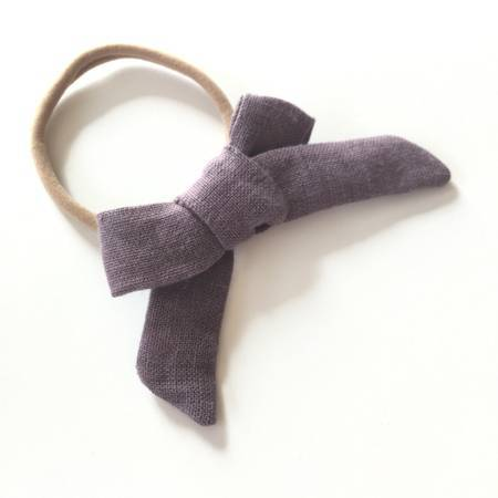 LINEN CLASSIC HAIR BOW - Spinel Boutique
