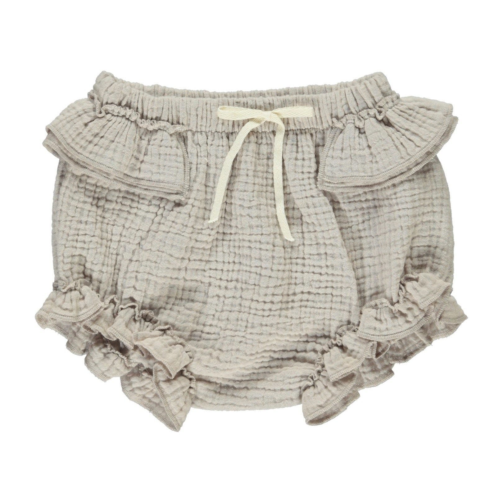 ORGANIC COTTON BABY 'BRANDY' BLOOMER, TAUPE | BEBE ORGANIC - Spinel Boutique