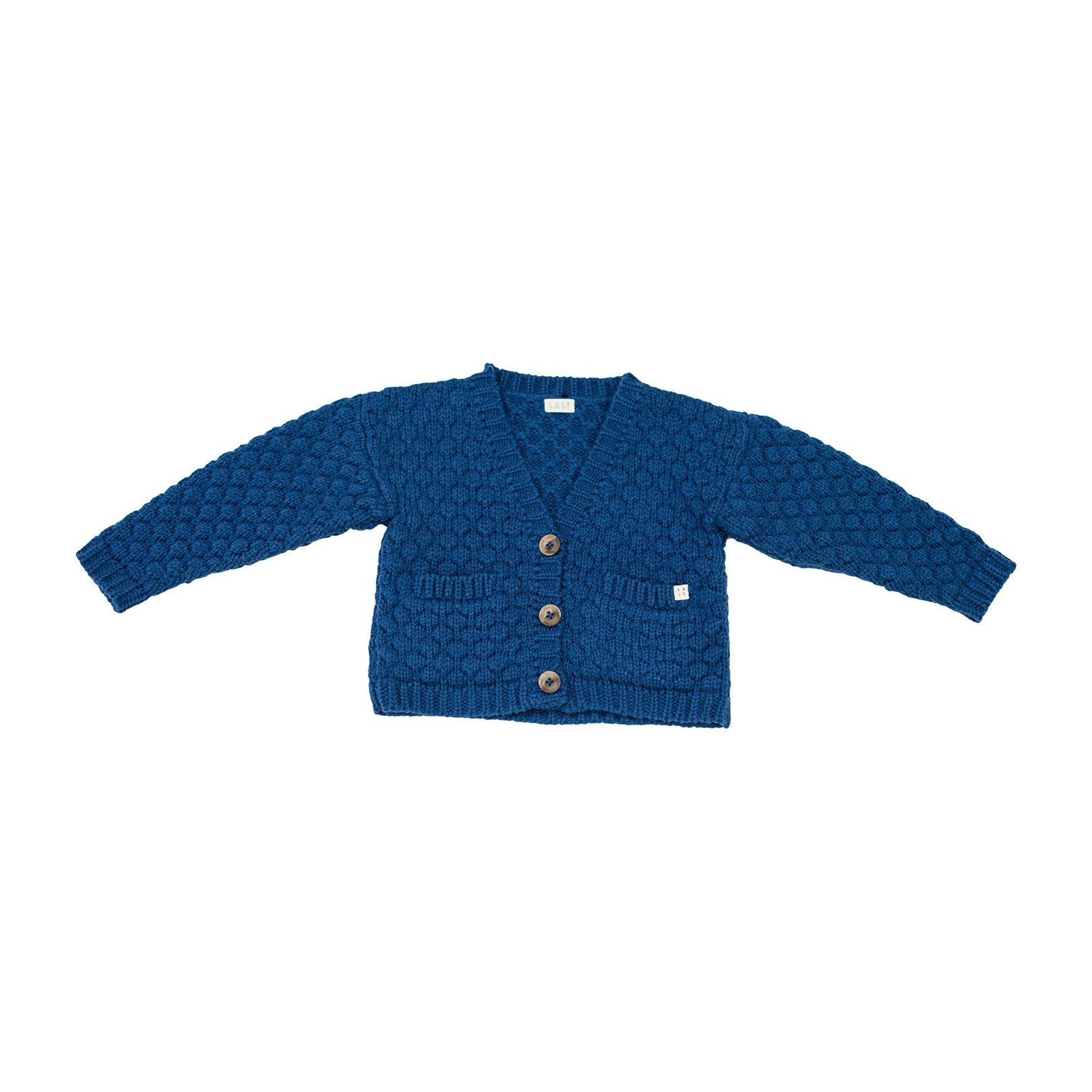 ALPACA WOOL CARDIGAN, BLUE - Spinel Boutique