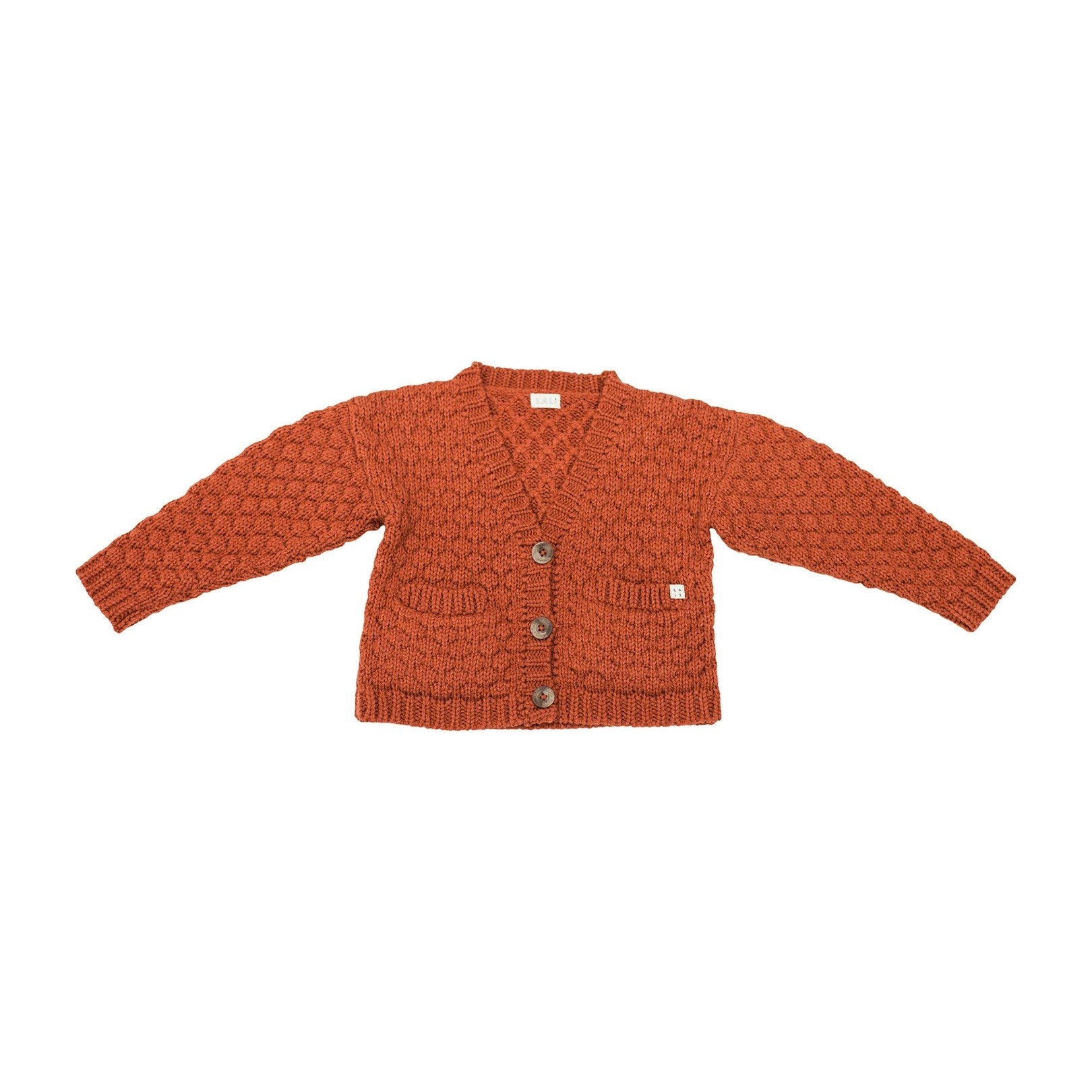 ALPACA WOOL CARDGAN, RUST - Spinel Boutique