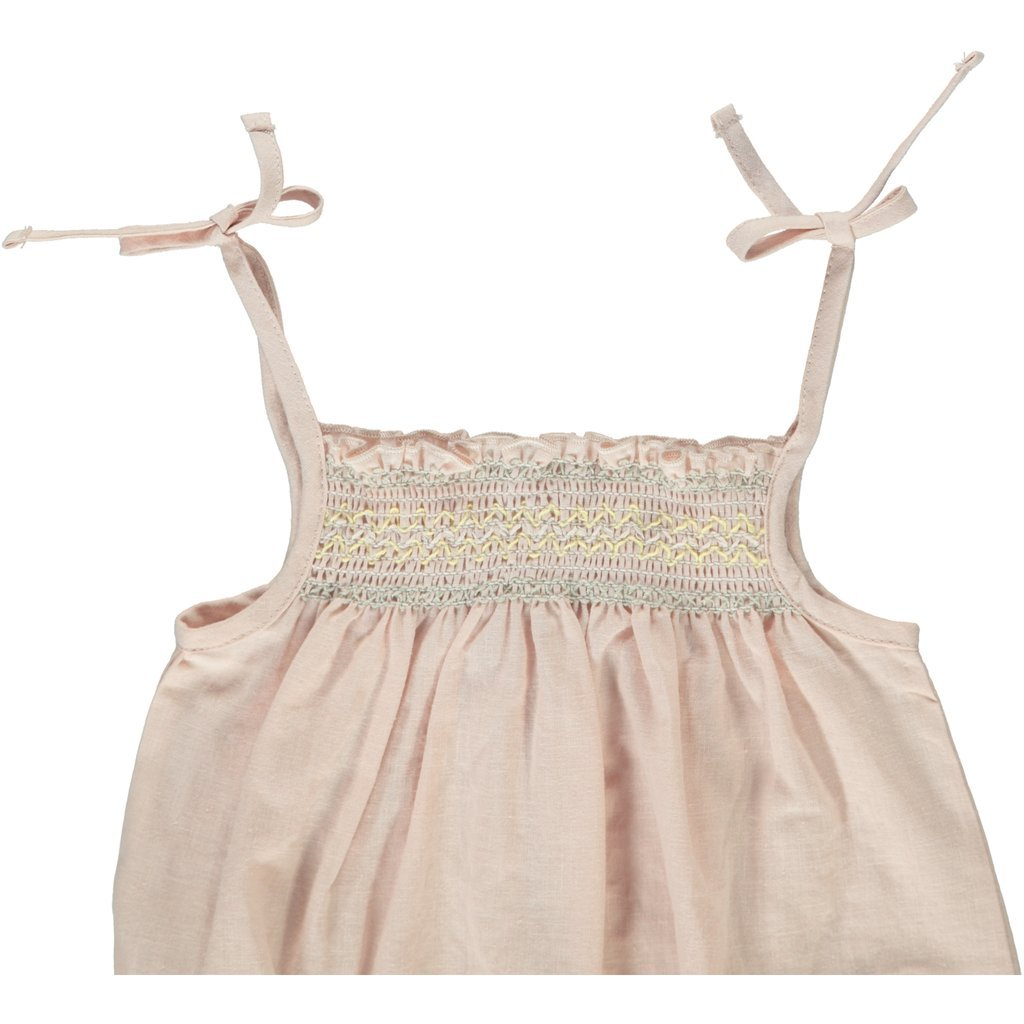 LIISI ROMPER IN COTTON LINEN BLEND - Spinel Boutique