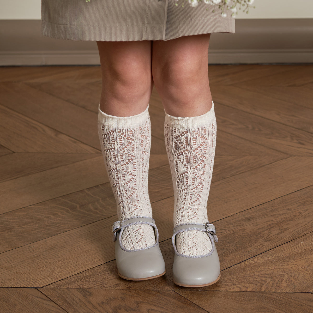 BEBE ORGANIC 'LOUISA' SOCKS, WHITE - Spinel Boutique