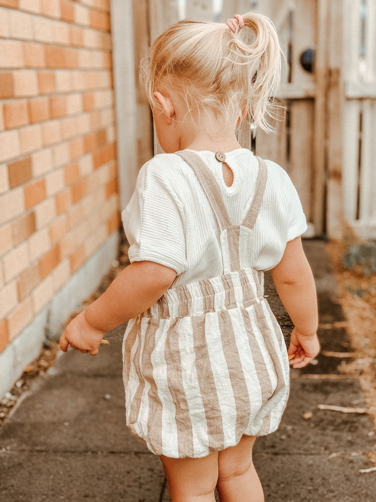LOKRUM LINEN STRIPE OVERALLS (UNISEX) | Summer of Eve - Spinel Boutique