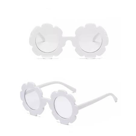 WHITE FLORAL FRAME SUNGLASSES - Spinel Boutique
