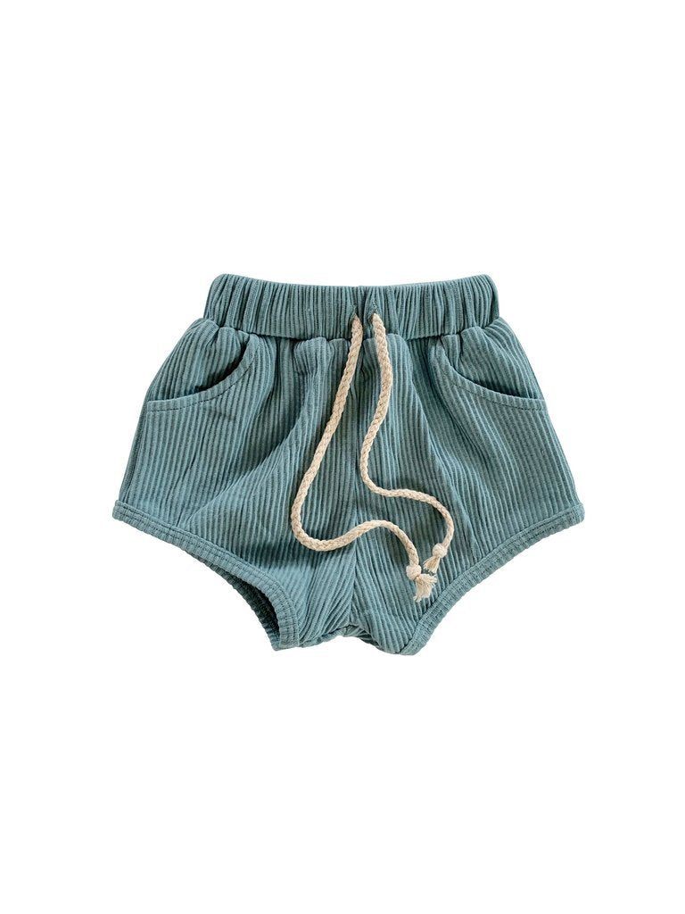 RIVER RIBBED SHORTS (UNISEX) - Spinel Boutique