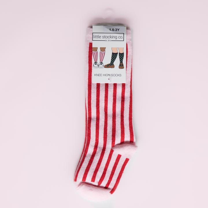 CANDY STRIPE KNEE HIGHS - Spinel Boutique