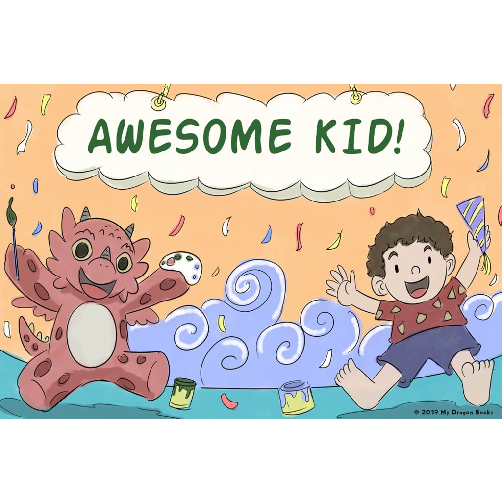 Awesome Kid Art Print (Dragon Affirmations For Kids)