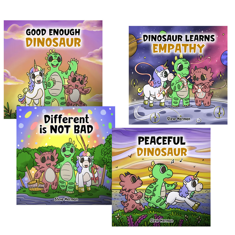 Dinosaur and Friends Full Series (4 Books) (Paperback)