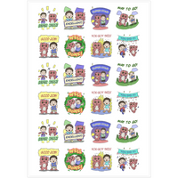 2'' Affirmation Stickers - Diggory Doo and Drew
