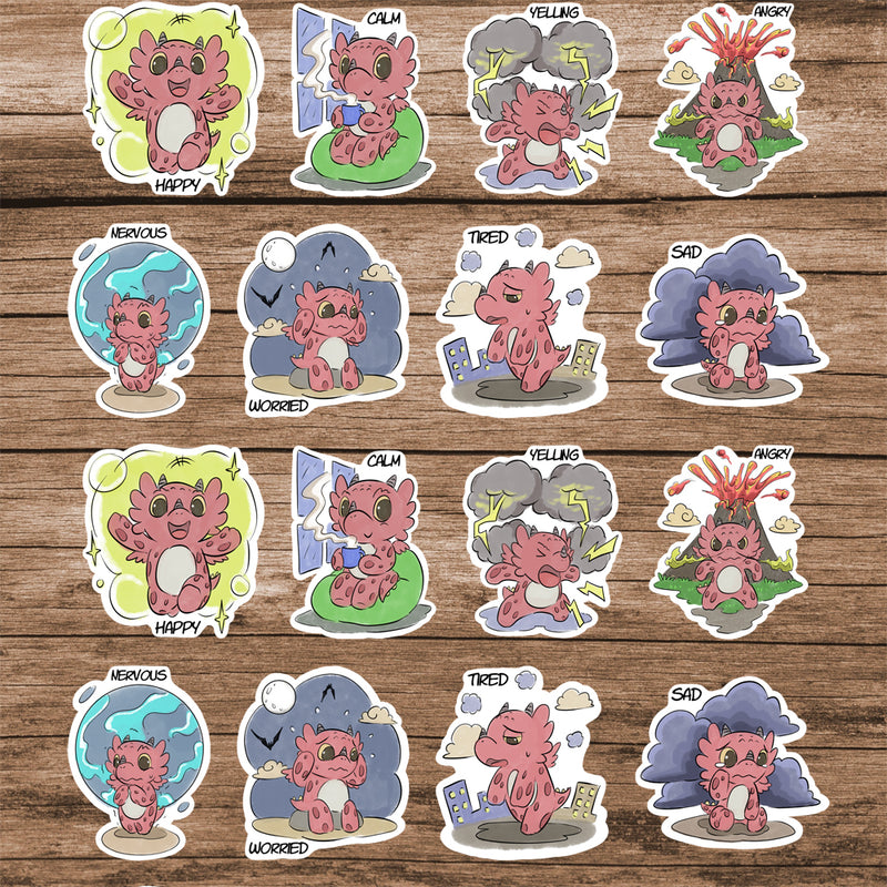 2'' Emotion Stickers  - Diggory Doo