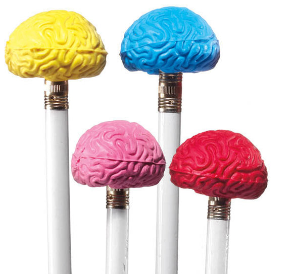 Brain Pencil Top Eraser (50/unit)  #101565 (G-12)