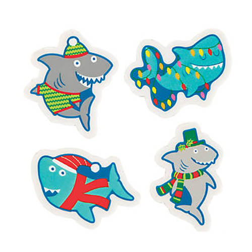 Holiday Shark Eraser (24/unit) #10507 (I-11)