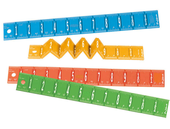 Foldable Metric 12 inch Ruler, #1124