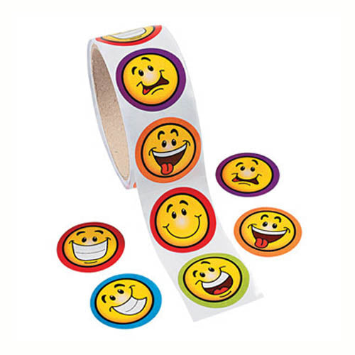 Happy Expressions Sticker Roll/100, 121875