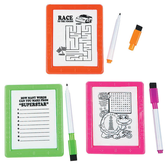 Dry Erase Board Game Set, #122457