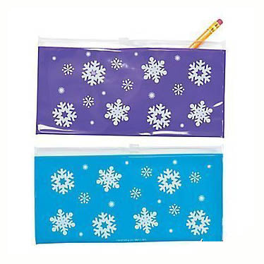 Snowflake Pencil Pouch, #12857