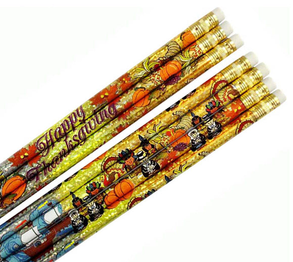 Thanksgiving Glitz Pencil (144/unit), #1561 (H-6)