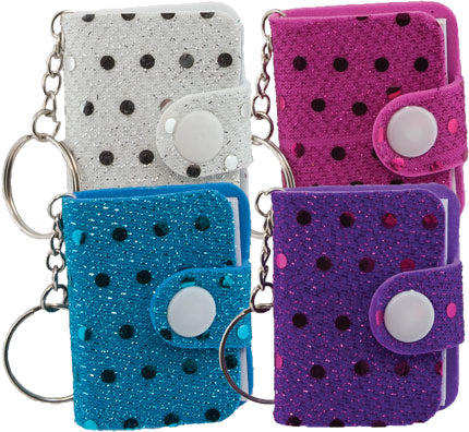 Sequined Memo Keychain, #1624