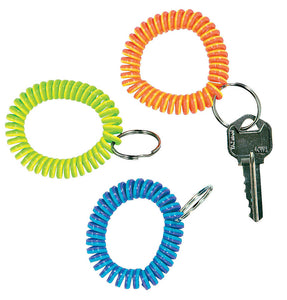 Striped Coil Wrist Key Ring, #19156