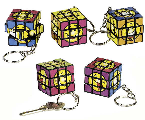 Smile Puzzle Cube Keychain, #19640