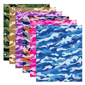 Camouflage Pocket Folder (48/unit), #2170