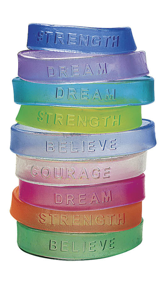Positive Message Bracelet, Translucent,  #241725