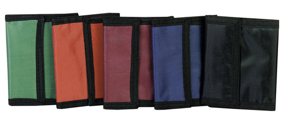 Velcro Closure Wallet, Solid Colors, #261201