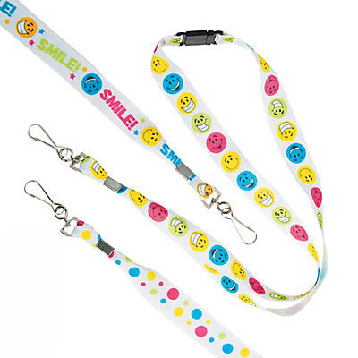 Smile Face Lanyard, #2629