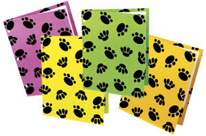 Paw Print Pocket Folder, #2708