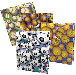 Sports Ball Pocket Folder, #2710