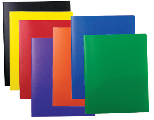 Pocket & Prong Poly Folder by Color, #33960C